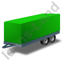 Car Trailer Green Icon