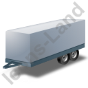 Car Trailer Grey Icon