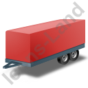 Car Trailer Red Icon