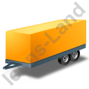Car Trailer Yellow Icon