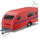Caravan Red Icon, PNG/ICO, 128x128