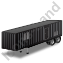 Containerized Generator Trailer Black Icon