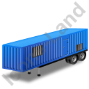 Containerized Generator Trailer Blue Icon