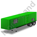 Containerized Generator Trailer Green Icon