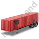 Containerized Generator Trailer Red Icon