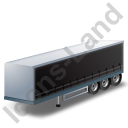 Curtain Side Trailer Black Icon, PNG/ICO, 128x128