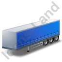 Curtain Side Trailer Blue Icon