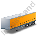 Curtain Side Trailer Yellow Icon