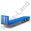 Flatbed Trailer Bulkhead Blue Icon, PNG/ICO, 128x128