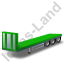Flatbed Trailer Bulkhead Green Icon
