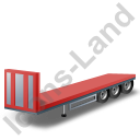 Flatbed Trailer Bulkhead Red Icon