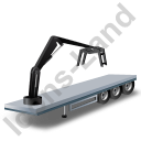 Flatbed Trailer Loader Crane Head Black Icon, PNG/ICO, 128x128