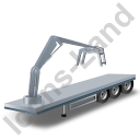 Flatbed Trailer Loader Crane Head Grey Icon