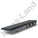Flatbed Trailer Black Icon, PNG/ICO, 128x128