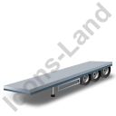 Flatbed Trailer Grey Icon, PNG/ICO, 128x128