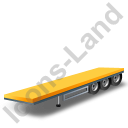 Flatbed Trailer Yellow Icon