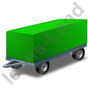 Full Trailer Green Icon, PNG/ICO, 128x128