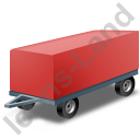 Full Trailer Red Icon, PNG/ICO, 128x128