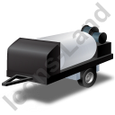 Jetter Trailer Black Icon