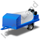 Jetter Trailer Blue Icon, PNG/ICO, 128x128