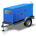 Super Silent Generator Trailer Blue Icon