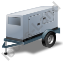 Super Silent Generator Trailer Grey Icon, PNG/ICO, 128x128