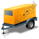 Super Silent Generator Trailer Yellow Icon, PNG/ICO, 128x128
