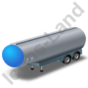 Tanker Trailer 2 Blue Icon