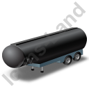 Tanker Trailer Black Icon