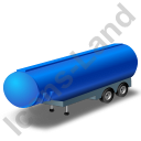 Tanker Trailer Blue Icon