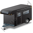 Travel Trailer Black Icon