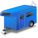 Travel Trailer Blue Icon