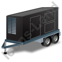 Ultra Silent Generator Trailer Black Icon