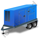 Ultra Silent Generator Trailer Blue Icon, PNG/ICO, 128x128