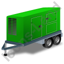 Ultra Silent Generator Trailer Green Icon