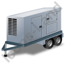 Ultra Silent Generator Trailer Grey Icon, PNG/ICO, 128x128