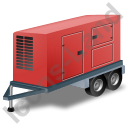 Ultra Silent Generator Trailer Red Icon, PNG/ICO, 128x128
