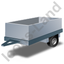 Utility Trailer Grey Icon