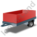 Utility Trailer Red Icon