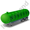 Waste Tanker Trailer Green Icon, PNG/ICO, 128x128