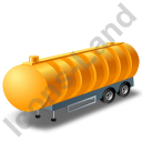 Waste Tanker Trailer Yellow Icon, PNG/ICO, 128x128