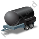 Water Bowser Trailer Black Icon, PNG/ICO, 128x128