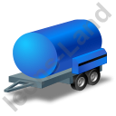 Water Bowser Trailer Blue Icon