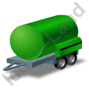 Water Bowser Trailer Green Icon, PNG/ICO, 128x128