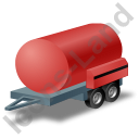 Water Bowser Trailer Red Icon, PNG/ICO, 128x128