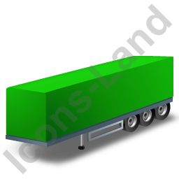 Box Trailer Green Icon