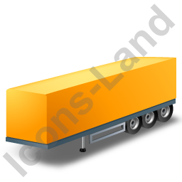 Box Trailer Yellow Icon