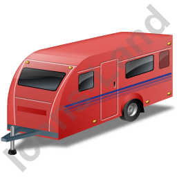 Caravan Red Icon, PNG/ICO, 256x256