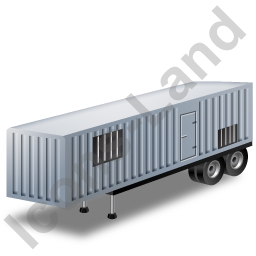 Containerized Generator Trailer Grey Icon