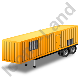 Containerized Generator Trailer Yellow Icon